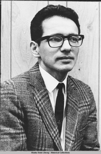 Portrait of Emil Notti, former president of Alaska Federation of Natives.