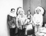 Group portrait of Emil Notti (L) standing next to Yakima Nation Tribal Chairman Robert Jim and two other members of the Yakima Indian Nation.